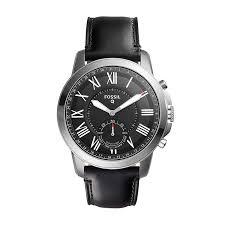 Fossil Men's Hybrid Smart Watch - Q Grant Black Leather