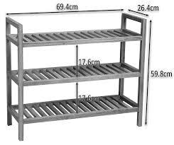 3 tier stackable solid oak shoe rack your shoes