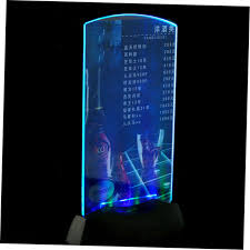 Menu Display Stands Restaurant Awesome Dualside Acrylic LED Light Table Menu Restaurant Card Display