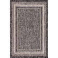 outdoor soft border black 4 0 x 6 0 area rug