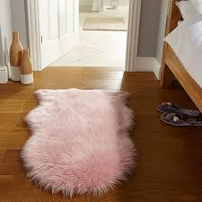 flair rugs faux fur sheepskin rug pink 60 x 90 cm