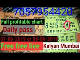 Mumbai Game Chart 07 06 2019 Kalyan Mumbai Free Free Chart Updated Full