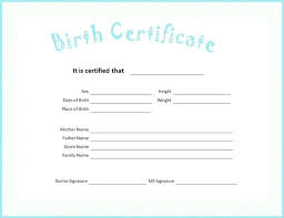 Free Birth Certificate Template Word 40 Printable Templates Filename Awesome Blank Birth Certificate Images