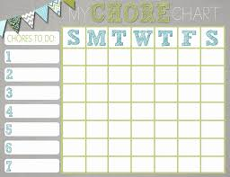 Children Chore Chart Template Free Printable Potty Charts New Reward