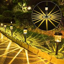 outdoor solar pathway lights 6pack