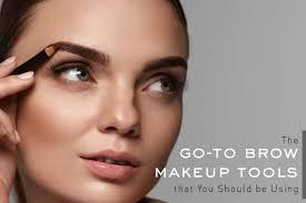 brow makeup tools