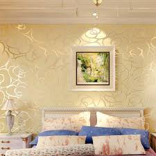 Buy Gold Rose Wallpaper And Get Free Shipping On Aliexpress Com