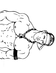 Small Picture Wrestlers 41 Printable Wrestling WWE Coloring Pages