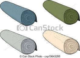 carpet roll vector. isolated rolls of carpet - csp19643288 roll vector