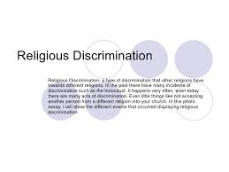 religious% discrimination% b% d  religious discrimination religious discrimination a type of discrimination that other religions have towards different r