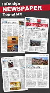 Newspaper Template For Photoshop Indesign Newspaper Template Download Under Fontanacountryinn Com