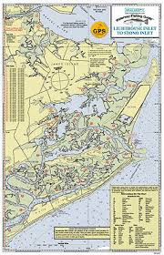 Sealake South Carolina Winyah Bay Fishing Map Chart Print