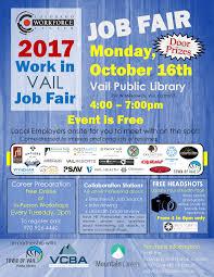 2017 Work In Vail Job Fair Vail Public Library