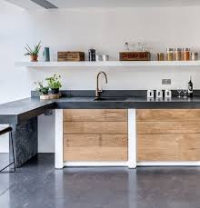 Perfect Concrete Floor Kitchen Polished Floors Worktops With Sink And Step Design