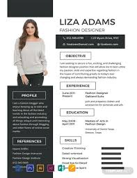 Unique Cv Format Free Fashion Designer Resume Template Word Psd