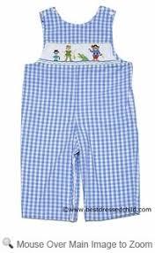 Anavini Infant Toddler Boys Light Blue Gingham Smocked
