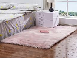 Light Pink Fluffy Rug Amazon Com Meng Ge Soft Faux Sheepskin Chair Cover Seat