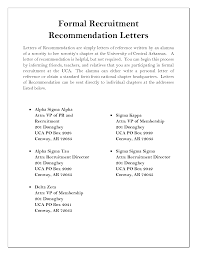How To Write A Sorority Recommendation Letter Sample Letter With