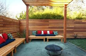 horizontal wood fence panel. Delighful Wood Horizontal Wood Fence With Pergola Benches And  Portable Fire Pit Buy   Inside Horizontal Wood Fence Panel M