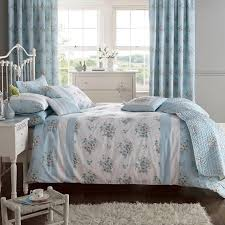 elodi fl duvet set in duck egg blue