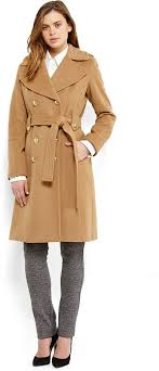 anne klein belted military coat