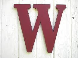 wooden letter w wall hanging monogram