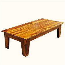 rectangular solid wood rustic coffee table ideas