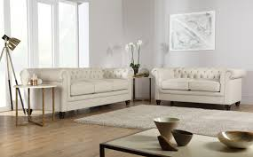 hampton leather chesterfield sofa suite 32 seater ivory chesterfield sofa leather 3