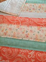 Touch of Vintage Baby Quilt - lace, coral, peach, mint, blue ... & Touch of Vintage Baby Quilt - lace, coral, peach, mint, blue Adamdwight.com