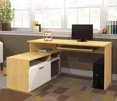 corner desk home office furniture shaped room. Khaki L Shaped Desk With Hutch And Drawer Plus Computer Stand On An Office Home Room Corner Furniture S