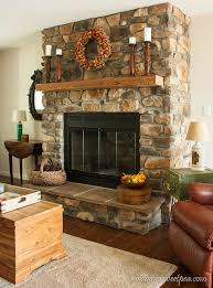 Fall Mantel with Candlestick Holders Made from Bedposts -  virginiasweetpea.com