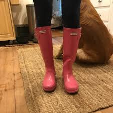 hunter boots size 6 hunter boots shoes hunter pink boots size 6 fits size 67 poshmark
