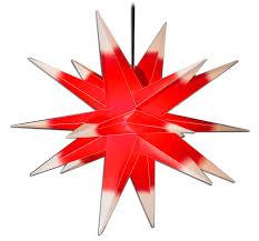 Weihnachtsstern ø 50 Cm Rotweiß 3d Adventsstern Beleuchtet Wetterfest Für Außen Garten Von Gartenpirat