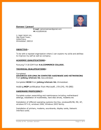Cv Format For Job In Ms Word Free Download Job Resume Format And