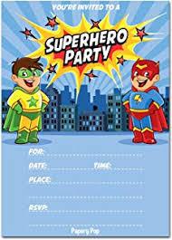 Personalized Superhero Birthday Invitations Amazon Com 30 Invitations Superhero Invite Boy Birthday Party