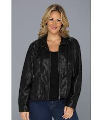 Cheap Plus Size Quilted Leather Jacket, find Plus Size Quilted ... & Get Quotations · Plus Size Faux Leather Jacket with Quilted Sleeves Adamdwight.com
