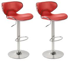 Furniture : Furniture Red Bar Stools Design With White Ceramic Floor And  Small Glass Windows Also Lighting Lamp For Modern Home Decor Nice Placed  Area ...