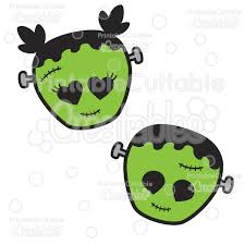 Easy to do projects using vinyl, paint, glitter, fabric, and other easy to find products. Cute Frankenstein Halloween Svg Cut Files Clipart