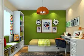 Of Childrens Bedrooms 3d Green Wall Of Childrens Bedroom Download 3d House
