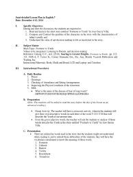 Semi Detailed Lesson Plan In English 7 Date December 4 12 2014 I