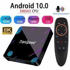 transpeed 8K Android 10.0 TV Box 1000M wifi Bluetooth 4.1 Amlogic S905X3  Dual Wifi 1080P 4 Youtube Set Top Box Google Voice|Set-top Boxes
