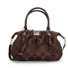 CoachOutletStore Coach Madison Kelsey In Signature Medium Coffee Satchels  ATN Makes You Elegant And Stylish, Come Here To Buy.