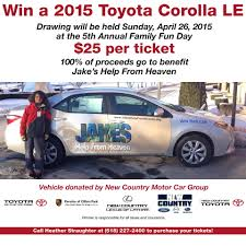 Purchase Raffle Tickets to Win a 2015 Toyota Corolla LE!   Jake's ...