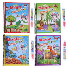 Drawing Album Magic Water Paint Coloring Book With Magic Doodle Pen