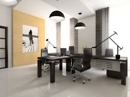simple office design. Interior Of The Cabinet In Office 3D Rendering Simple Design T