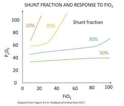 Fio2 Chart Shunt Fraction And Response To Fio2 Teachim