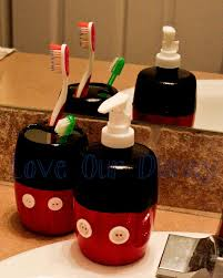 disney furniture for adults. diy mickey mouse toothbrush holder liquid soap dispenser disney furniture for adults