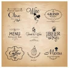 Label Design Free Label Set For Restaurant Menu Design Free Vector 4vector