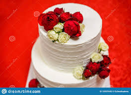 beautiful white and red wedding cakes. Modren And Download Beautiful White Wedding Cake With And Red Roses Stock Image   Of Chic Throughout Cakes E