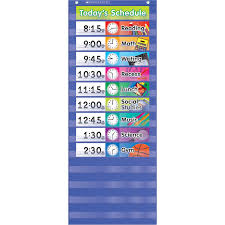 Daily 5 Pocket Chart Cards Scholastic Daily Schedule Pocket Chart Beckers School Supplies